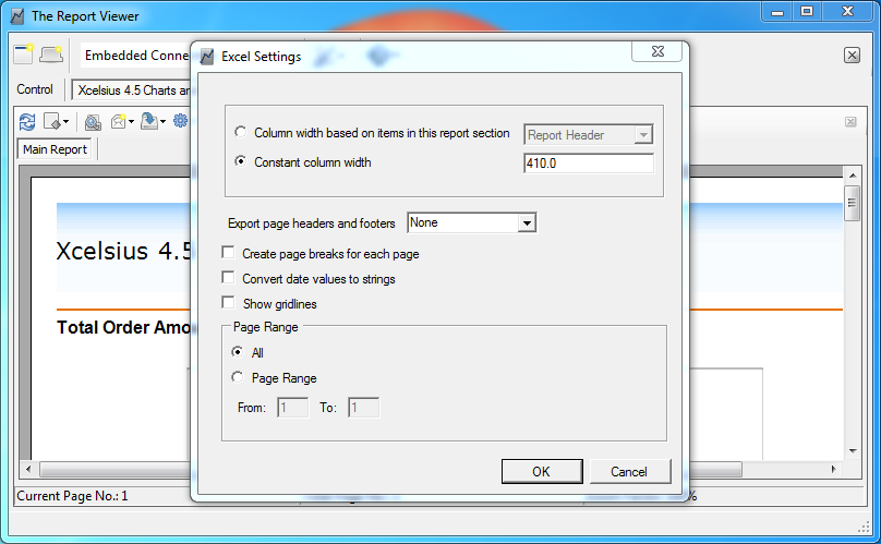 Export to Excel with Formatting Options | The Report Viewer