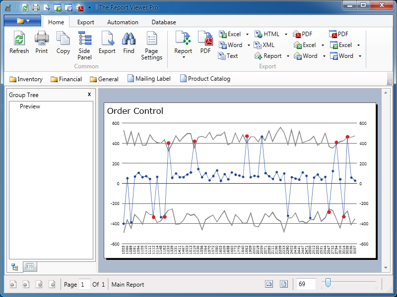 The Report Viewer for Crystal Reports